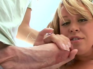 Enormous boobs porn whore Brandy Talore banged in her sappy shaven cunt
