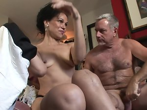 Experienced couple are ready for some great lewd banging session at home