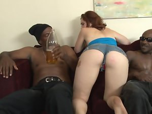 Crazy dark haired cunt gets creampied in this amazing interracial episode
