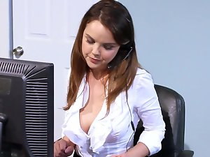 The cutiest porn actress Dillion Harper prefers to fuck in office