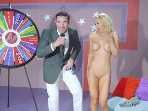 Whore spins the wheel and does the raunchy sex act that comes up