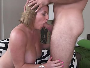 Blond with a big butt is licking and banging like a pro in this episode