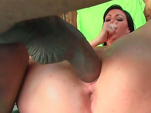 Attractive mum Valerie tries out a monster dick