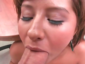 Randy vixen Jade gets her mouth filled with a dick