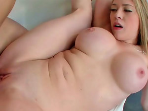 Kagney Linn Karter receiving massive pecker in her fleshy pussy